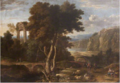 Gaspar de Witte - Classical Landscape with Travellers and a River.tiff