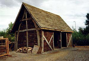 Gateshead Garden Festival Cruck Barn Exterior
