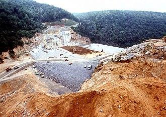 Gathright Dam - Gathright Dam construction