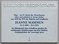 Gedenktafel Kurfürstendamm 29 (Charl) Jeanne Mammen.JPG