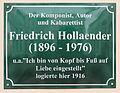 Gedenktafel Seestrasse 41 (Heringsdorf) Friedrich Hollaender.jpg