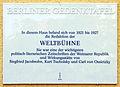 Gedenktafel Wundtstr 65 (Charl) Weltbühne.jpg