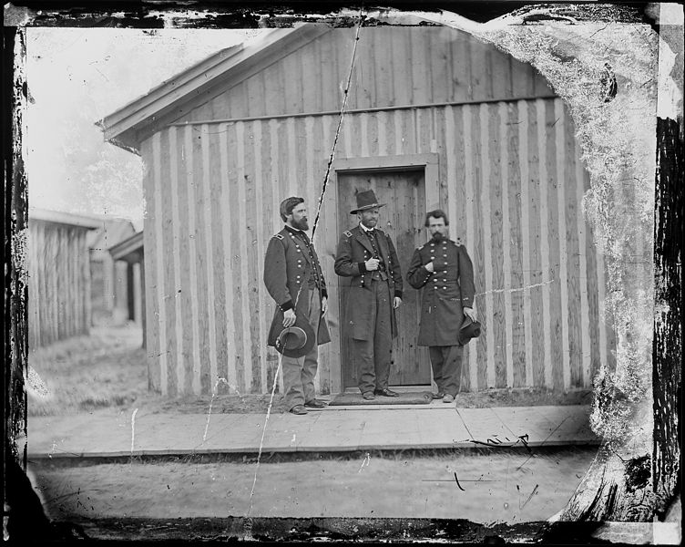 File:Gen. Ulysses S. Grant and portion of staff, Gen. John A. Rawlins. - NARA - 524492.jpg
