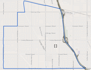 Valley Glen, Los Angeles - Valley Glen map from the Los Angeles Times
