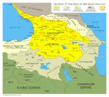 El Reino de Georgia en la cumbre de su dominio militar, 1184–1225