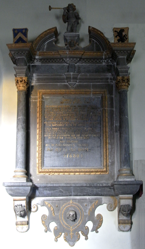 George Cary (1611-1680) - Mural monument to Dr. George Cary (1611–1680), Dean of Exeter, Clovelly Church
