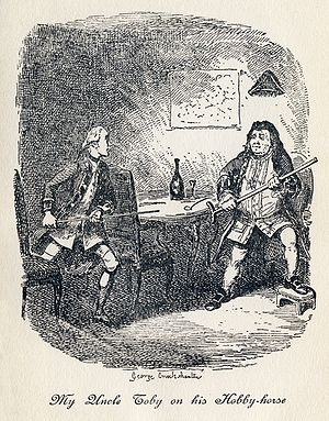 "Hobby - The origin of the word hobby in Tristram Shandy, a characters' ""hobby-horses"", or particular obsessions"
