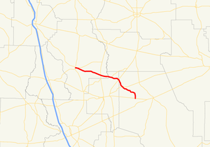 Georgia State Route 168 - Image: Georgia state route 168 map