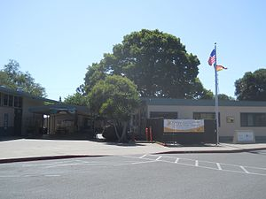 German International School of Silicon Valley - Entrance to the German International School Mountain View campus