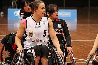 Johanna Welin - Image: Germany vs Japan women's wheelchair basketball team at the Sports Centre(IMG 3471)
