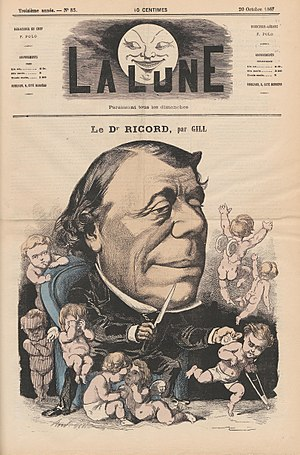 Philippe Ricord - Ricord caricatured by André Gill, 1867