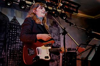 The Raincoats - Gina Birch performing at Celebrating Sisterhood!, The Verge at The Cheshire Ring, 2012.