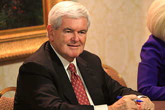 Newt Gingrich 2012 presidential campaign - Gingrich during a book signing in November 2011.