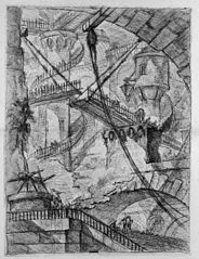 Le Carceri d'Invenzione, plate VII: The Drawbridge