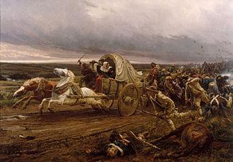 Battle of Cholet - La déroute de Cholet, by Jules Girardet