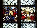 Gisors (27), collégiale St-Gervais-et-St-Protais, collatéral sud, verrière n° 18 - donateurs, Transfiguration 2.jpg