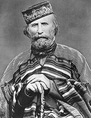 Giuseppe Garibaldi, major military leader during the Italian unification Giuseppe Garibaldi (1866).jpg