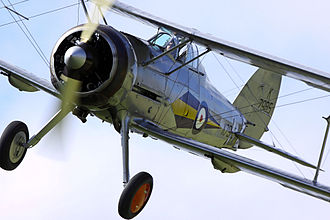 Gloster Gladiator - Gloster Gladiator I at  Shuttleworth Airshow, 2010