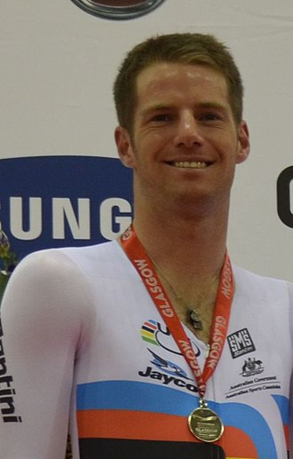 Glenn O'Shea - O'Shea during the Glasgow event of the 2012–2013 UCI Track Cycling World Cup Classics season.
