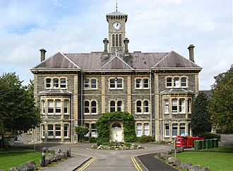 Glenside, Bristol - Part of the Glenside Hospital building (now Faculty of Health and Social Care, UWE)