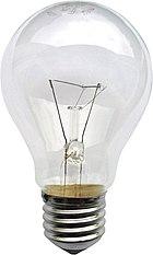 Clear glass light bulb