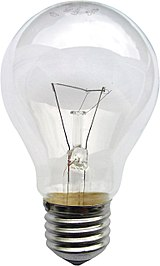 Clear glass light bulb