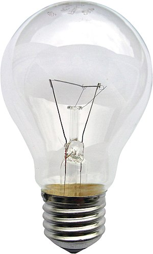 Edison screw - 230-volt incandescent light bulb with E27 screw base