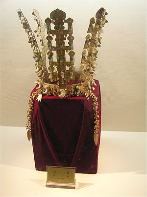 Crown jewels - Gold crown from Cheonmachong made in the Korean kingdom of Silla.