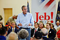 Governor of Florida Jeb Bush at TurboCam, Barrington, NH on August 38th by Michael Vadon.jpg