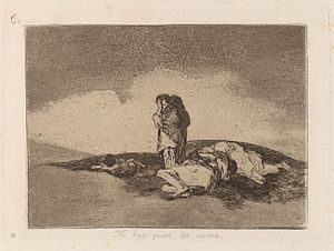 Printmaking - Francisco Goya, There is No One To Help Them, Disasters of War series, aquatint c.1810