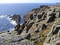 Granite cliffs west of Gwennap Head - geograph.org.uk - 229817.jpg