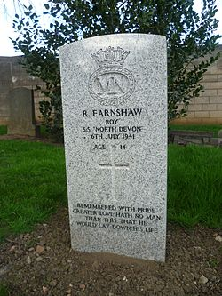 Grave of Reginald Earnshaw.JPG