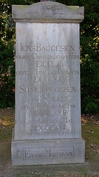 Baggesen's grave at Eichhof Cemetery in Kiel, Germany. (Source: Wikimedia)