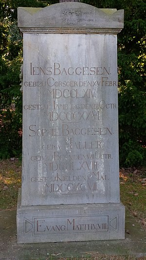 Jens Baggesen - Baggesen's grave at Eichhof Cemetery in Kiel, Germany.