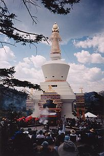 The consecration ceremony of the Great Stupa of Dharmakaya in Colorado, one of two largest stupas in the western world.