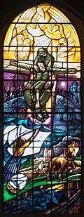 Great War Memorial Window by Nicholas Mynheer in Southwell Minster.jpg