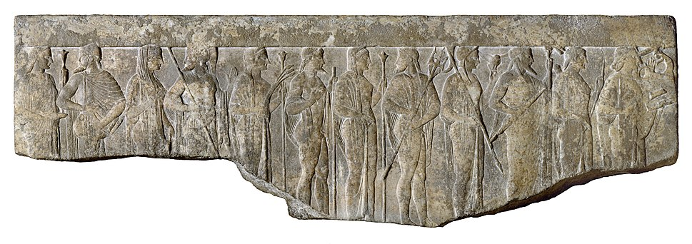 Greek - Procession of Twelve Gods and Goddesses - Walters 2340