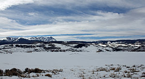 Green Mountain Reservoir - A view of the reservoir in winter. The town of Heeney is visible on the far shore.