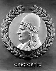 Gregory IX bas-relief in the U.S. House of Representatives chamber.jpg