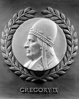 Pope Gregory IX - Bas-relief of Gregory IX in the US House of Representatives
