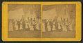Group portrait of people in front of tent and cottage, by Alexander Allen.png