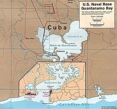Us Naval Base Guantanamo Bay Cuba Map Guantanamo Bay Naval Base   Wikipedia