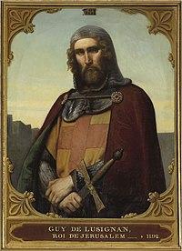 Guy de lusignan v představě francouzského malíře francoise