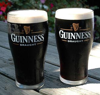 Stout - Guinness Draught, an Irish dry stout