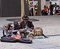 Guitar busking outside the Pompidou centre, Paris, France.jpg