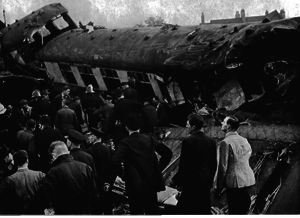 Harrow and Wealdstone rail crash - Rescue workers amongst the wreckage.