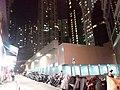 HK 灣仔 Wan Chai 皇后大道東 Queen's Road East 寶華大廈 Po Wah Building construction site 蘭杜街 Landale Street sidewalk carpark night July 2019 SSG.jpg
