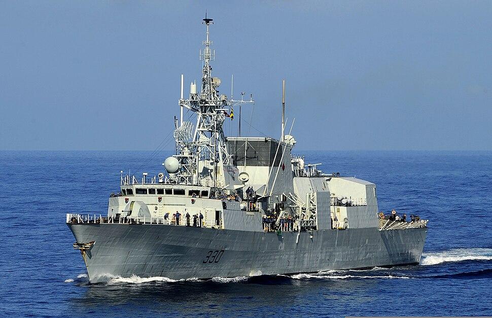 HMCS Halifax (FFH 330) en route to Haiti 2010-01-18