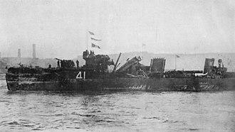 SMS Nassau - Damage to HMS Spitfire after being rammed by Nassau