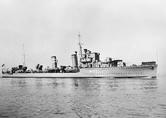 Second Battle of the Java Sea - HMS Encounter in July 1938.